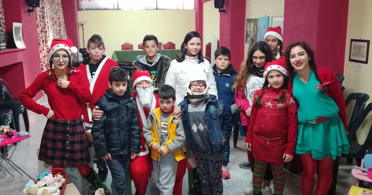 Babbo Natale nella sede dei Volontari di Strada