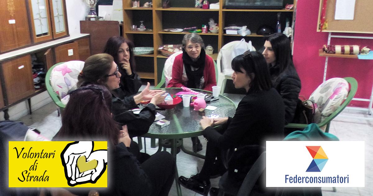 I Volontari di Strada e la Federconsumatori a braccetto in difesa dei diritti dei bisognosi