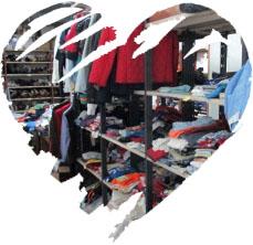 Distribuzione di vestiario nuovo e usato agli indigenti