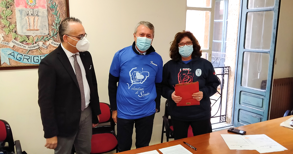 Protocollo d'intesa fra l'Associazione Volontari di Strada ETS e l'Amministrazione Comunale di Agrigento