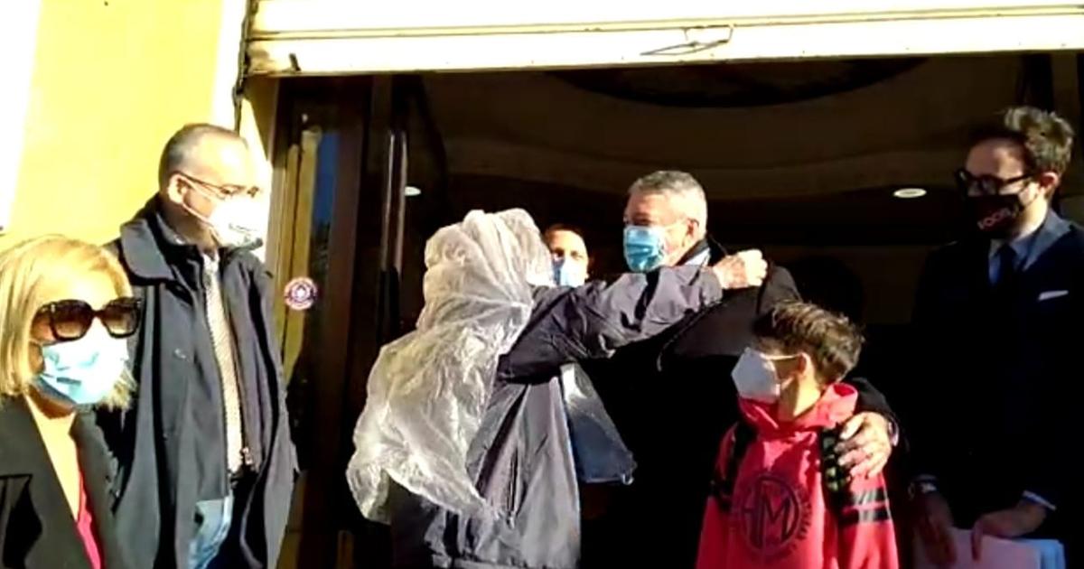 Scambio di auguri fra i volontari di strada e la giunta comunale di Agrigento